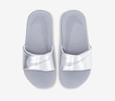 NIKE KAWA SLIDE (GS/PS)童拖鞋 銀灰-NO.819352007