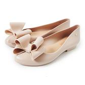 Petite Jolie  雙層蝴蝶結娃娃鞋-粉膚
