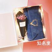 禮物 創意生日禮物送女生媽媽母親婆婆40-50歲實用溫馨高檔禮盒新年花 5色