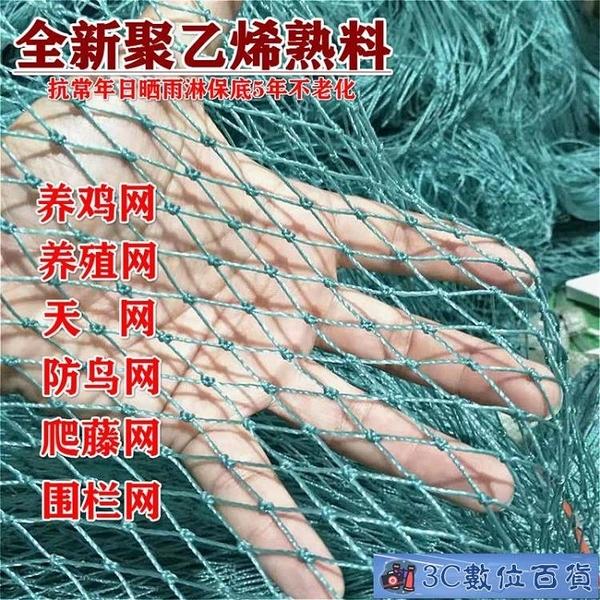 尼龍網防鳥養雞網養殖防護球場圍欄籬笆小雞家禽爬藤漁網 3C數位百貨
