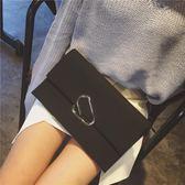 手包女2018新款韓版潮手拿包簡約個性時尚大容量單肩斜跨百搭氣質【叢林之家】