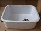 【麗室衛浴】712A吧檯廚房專用 上崁盆陶瓷盆 洗菜盆 420*370*170mm