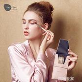 FakeFace菲可菲絲6支馬毛眼影刷套裝眉粉刷暈染化妝刷套裝配刷包『潮流世家』