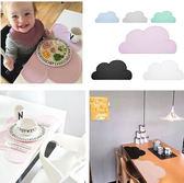 ins爆款云朵形狀硅膠兒童餐墊 防水易清洗環保硅膠寶寶餐桌墊