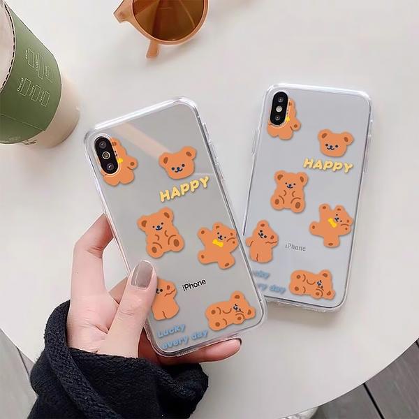快樂小熊熊 適用 iPhone12Pro 11 Max Mini Xr X Xs 7 8 plus 蘋果手機殼 01