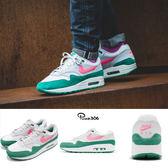 Nike Air Max 1 白 綠 粉紅 西瓜 南灘 South Beach 男鞋 休閒慢跑鞋 【PUMP306】 AH8145-106