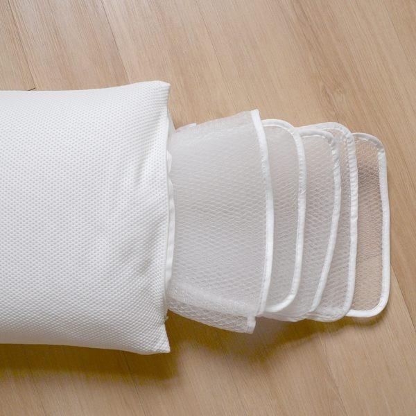 《Dr.Air透氣專家》可水洗 全3D 超強透涼枕頭 多層高度可調整 透氣 防蹣