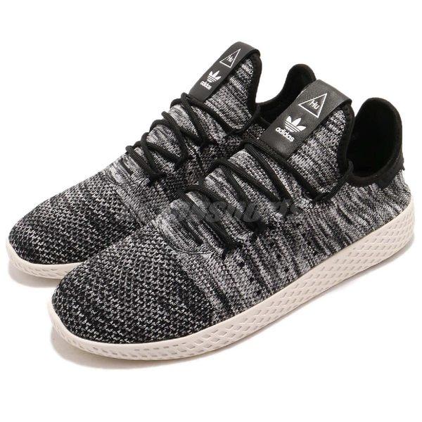 【六折特賣】adidas 休閒鞋 PW Tennis HU PK Pharrell Williams 黑 灰 雪花 聯名款 運動鞋 男鞋【PUMP306】 CQ2630