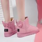 靴子短筒雪地靴女時尚百搭加絨加厚保暖防滑棉鞋子潮【快速出貨】