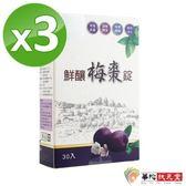 華陀寶華堂-鮮釀梅棗錠3盒(30錠/盒)