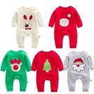 長袖連身衣 嬰兒聖誕老人系列哈衣爬服 W71064 AIB小舖