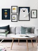 掛畫 北歐客廳沙發背景裝飾畫臥室壁畫現代簡約風格掛畫玄關餐廳牆畫·夏茉生活YTL