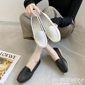 護士鞋護士鞋女舒適軟底2021秋季新款百搭平底豆豆鞋小白鞋一腳蹬工作鞋 新品嬡孕哺 618購物