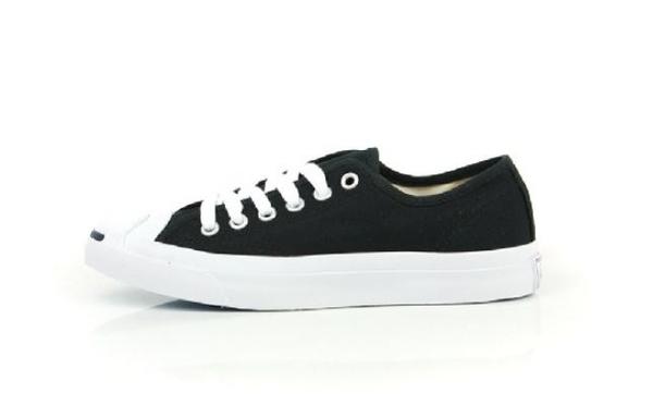 CONVERSE-男女黑色休閒帆布鞋-NO.1Q699