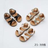 公主鞋兒童涼鞋女童1-2-3歲公主韓版魚嘴交叉涼鞋寶寶涼鞋軟 童趣潮品