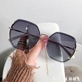 墨鏡 2021年新款ins墨鏡女偏光太陽眼鏡GM韓版潮圓臉防紫外線大臉顯瘦 艾家