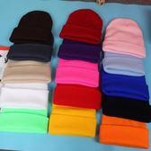 韓國光板糖果毛線帽子女 韓版潮男純色情侶針織套頭帽秋冬天冷帽  提拉米蘇
