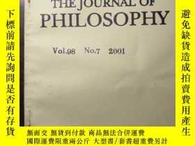 二手書博民逛書店The罕見Journal of Philosophy (2001