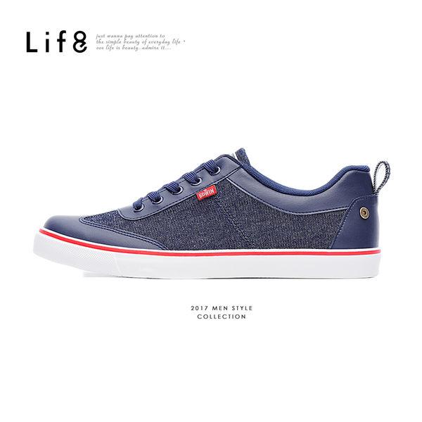 EDWIN聯名款 Casual 帆布 復古加硫休閒鞋-深藍【09699】