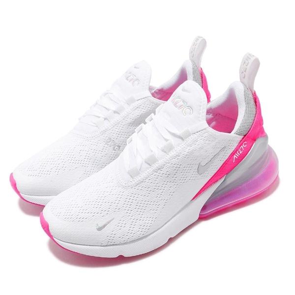 Nike 休閒鞋 Wmns Air Max 270 白 粉紅 女鞋 大氣墊 大型後跟氣墊 舒適緩震 運動鞋 【PUMP306】 CI1963-191