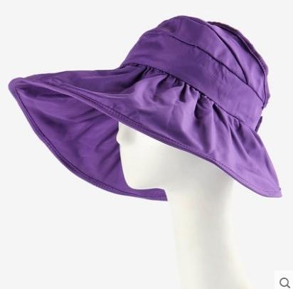 [協貿國際]韓國可折疊涼帽遮陽帽防曬帽子紫色