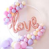 【BlueCat】草寫連體LOVE鋁膜氣球 裝飾 求婚