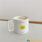 可愛卡通笑臉馬克杯大容量辦公室早餐燕麥杯【勇敢者】