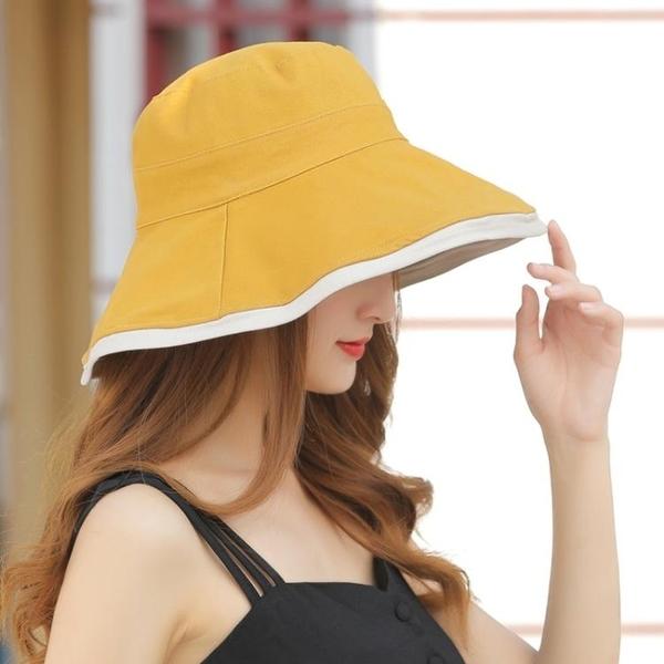 漁夫帽 網紅款漁夫帽女夏天遮臉防曬遮陽帽子韓版潮太陽帽日系百搭 寶貝計書