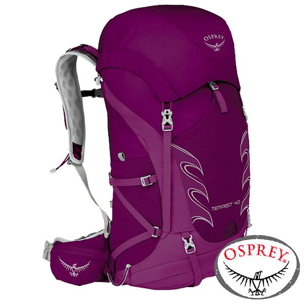 【美國 OSPREY】TEMPEST 40 透氣健行背包38L 『神秘紅』XS/S 10000872 後背包.健行.防雨罩.登山.露營.戶外