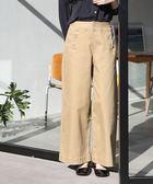彈性海軍風後身綁帶寬褲【coen】