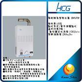 和成HCG 麗佳多強制排氣型熱水器GH585K