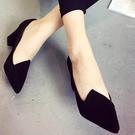 高跟鞋 歐美時尚絨面尖頭高跟鞋【S123...