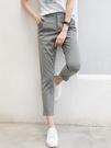 休閒褲子女條紋夏季薄款直筒九分褲小腳煙管小西褲西裝顯瘦蘿卜褲 果果輕時尚
