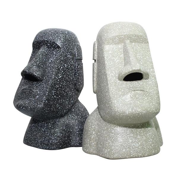 摩艾石像擺飾 摩艾 摩艾石像 MOAI moai 復活島 擺飾 擺件【葉子小舖】