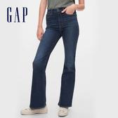 Gap女裝 時尚水洗修身款微喇牛仔褲 600412-深靛藍