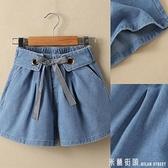 女童牛仔短褲夏季兒童褲子中大童小女孩百搭洋氣松緊褲腰