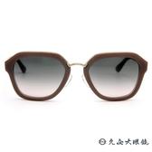 PRADA 太陽眼鏡 簡約 墨鏡 SPR25R UEC-4K0 裸粉-金 久必大眼鏡