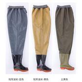 釣魚捕魚抓魚橡膠牛筋齊腰魚褲雨褲下水褲半身加厚防水耐磨連身男 生活樂事館