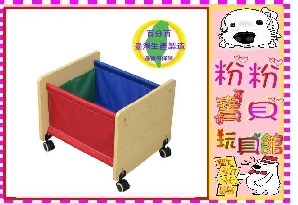 *粉粉寶貝玩具*移動式木質收納籃~玩具收納桶~