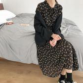【新年鉅惠】春裝新款韓版chic甜美顯瘦碎花連身裙