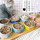 貓碗寵物貓盆單碗貓雙飯碗水盆不銹鋼泰迪大型犬狗碗狗狗食盆大號 薔薇時尚