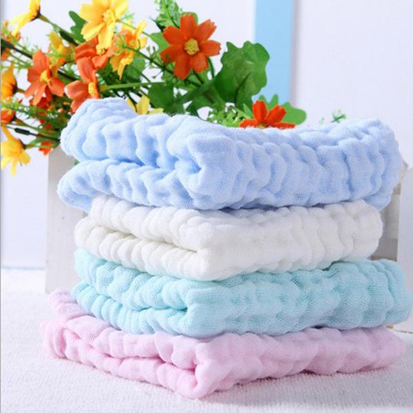 寶寶手帕 紗布巾 洗澡巾 口水巾 圍兜 吸水力超強 6層紗 【CC010】