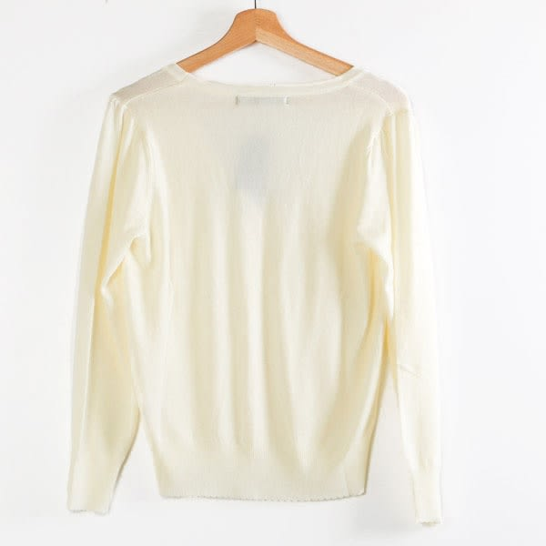 【MASTINA】素面針織外套-白  秋裝限定嚴選