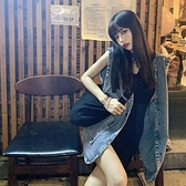 牛仔馬甲 無袖牛仔馬甲女夏季新款工裝寬鬆坎肩上衣中長款外穿馬夾薄外套潮 韓國時尚週 免運