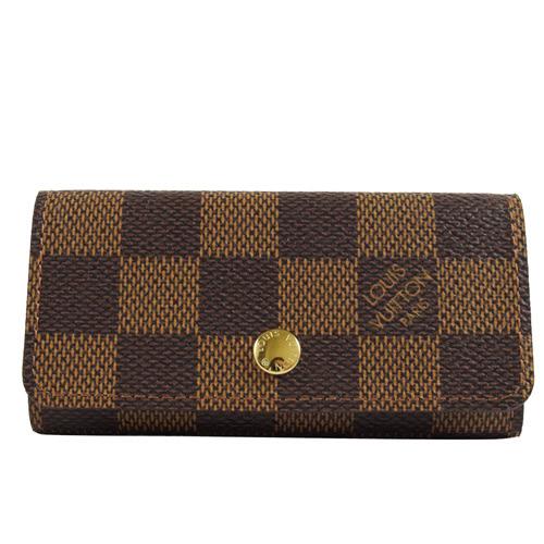 茱麗葉精品 全新精品Louis Vuitton LV N62631 Damier 棋盤花紋4扣鑰匙包(預購)