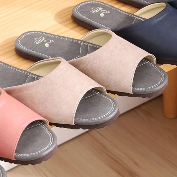 【333家居鞋館】台灣製優雅歐風室內皮拖鞋-米色