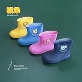 雨鞋防滑嬰幼兒童雨鞋男童小童膠鞋水鞋女雨靴短筒
