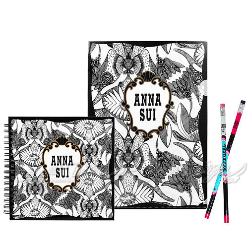 【17go】ANNA SUI 安娜蘇 魔法星願文件夾+魔法星願筆記本+DOLLY GIRL 鉛筆組