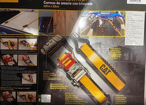 [COSCO代購] C980293 CAT RATCHET TIE DOWN SET 16呎棘輪綑綁帶4入組