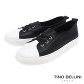Tino Bellini 跳色拼接3孔彈力帶平底休閒鞋 _ 黑 A83093